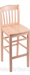 Bar Stool with Wood Frame #4