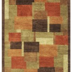 Tibetan-style hand knotted oriental rug with a semi-worsted wool and art silk pile