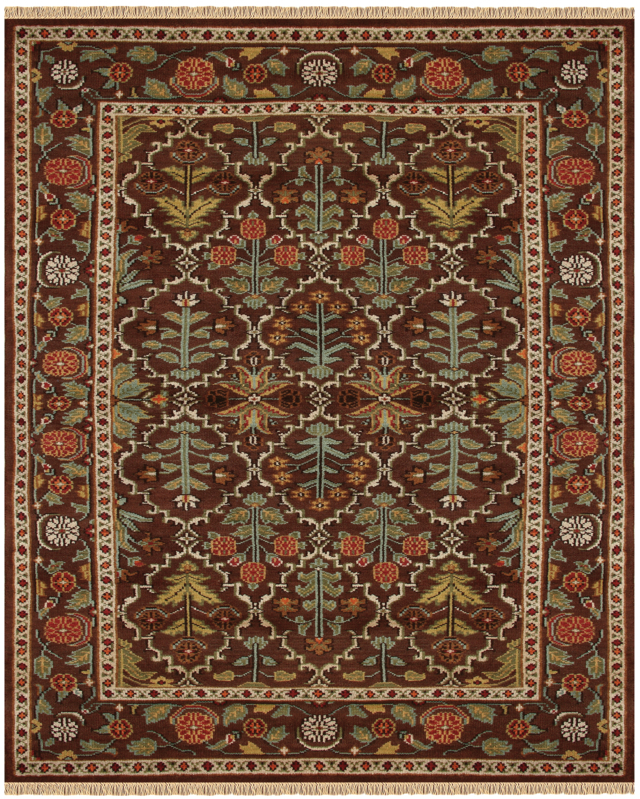 Copper oriental rug with a premium Seridian wool pile